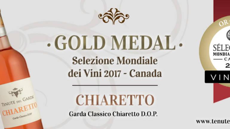 Medaglia d'oro alle Selezioni Internazionali di Vino – Canada 2017