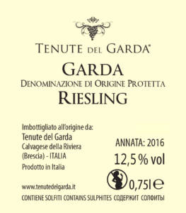 Riesling vino Tenute del Garda